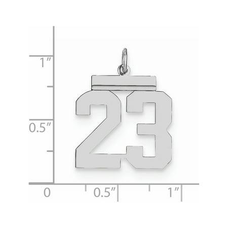 Argent 925 Nombre moyen poli 23 - image 1 de 2