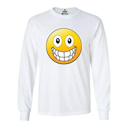 Emoji Big Smile Long Sleeve Shirt Emoji Shirts