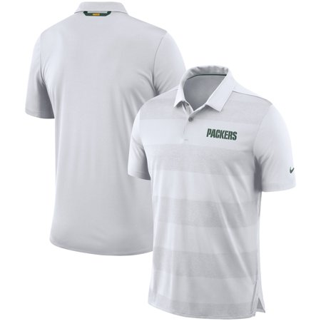 695c46eb Green Bay Packers Nike Sideline Early Season Wordmark Performance Polo -  White