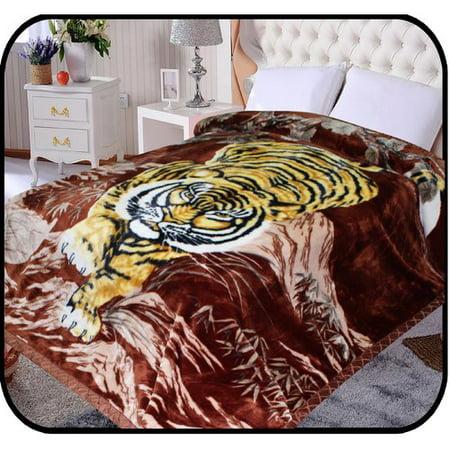 Jcp Hometex Inc  Hiyoko Safari Crouching Tiger Animal Mink Blanket