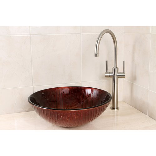 Superbe Kingston Brass Fauceture Glass Circular Vessel Bathroom Sink