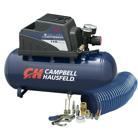 Campbell Hausfeld 3 Gallon Inflation and Fastening Compressor with Accessory Kit