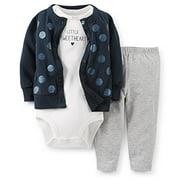 Carter's Baby Girls' Little Sweetheart Polka Dot Cardigan Pant Set, 9 Months