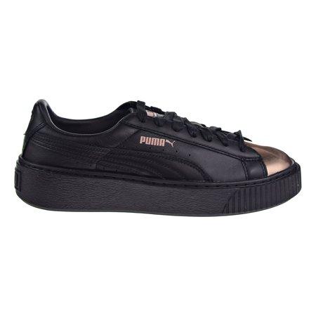 Puma Basket Platform Metallic Women's Shoes Black/Rose Gold 366169-02 ()