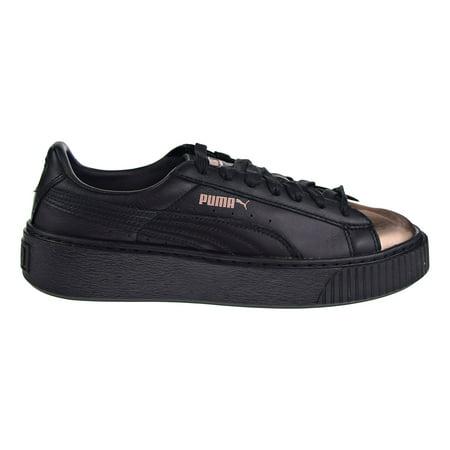 info pour bf67d 338cc Puma Basket Platform Metallic Women's Shoes Black/Rose Gold 366169-02