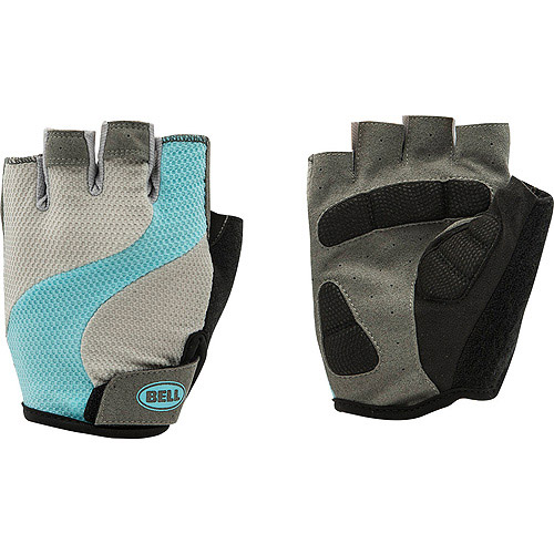 Bell Sports Adelle 500 Women's Half Finger Biking Gloves, L/XL, Grey/Teal