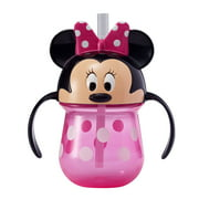 Disney Minnie Mouse Toddler Trainer Sippy Cup with Straw and Easy-to Grip Handles, 7 Oz
