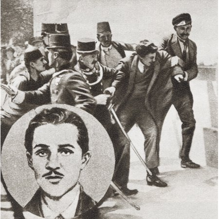 The Police Arresting Gavrilo Princip 1894 -1918 Bosnian Serb Who Assassinated Archduke Franz Ferdinand Of Austria And His Wife Sophie Duchess Of Hohenberg In Sarajevo On 28 June 1914 From The Story Of