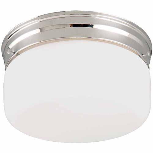 Design House 501965 2-Light White Opal Ceiling Mount, Chrome Finish