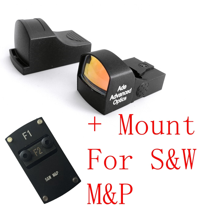 Ade Optics MINI Red Dot Reflex Sight Pistol for SW MP Smith Wesson S&M M&P
