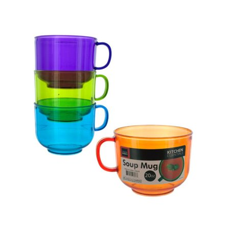 Bulk Buys HW659-8 20-Ounce Stackable Soup Mug