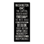 Uptown Artworks Washington DC by Uptown Artworks Framed Textual Art on Wrapped Canvas