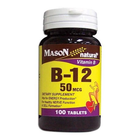 Mason B-12 50 MCG TABLETS 100 per bottle](Mason Bottles)