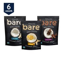 Bare Chips, Variety Pack, apples, bananas, and coconut, 6 ct