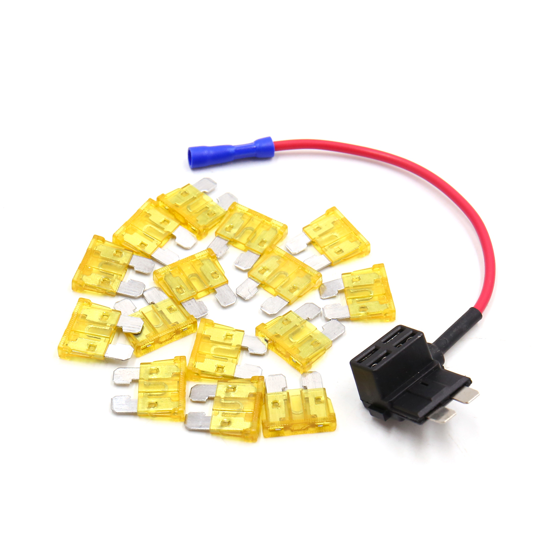 Car Add A Circuit Standard 20a Atc Ato Regular Blade Style Fuse Addacircuit Holder Tap