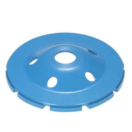 "125mm 5"" Diamond 2 Row Segment Grinding Wheel Disc Bowl Shape Grinder Cup 22mm Inner Hole for Concrete Granite Masonry Stone Ceramics Terrazzo Marble Building Industry - image 5 de 7"