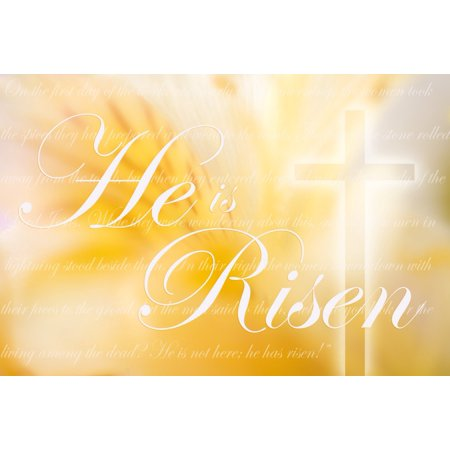 He Is Risen Computer Generated Image Poster Print by Chris and Kate Knorr  Design Pics