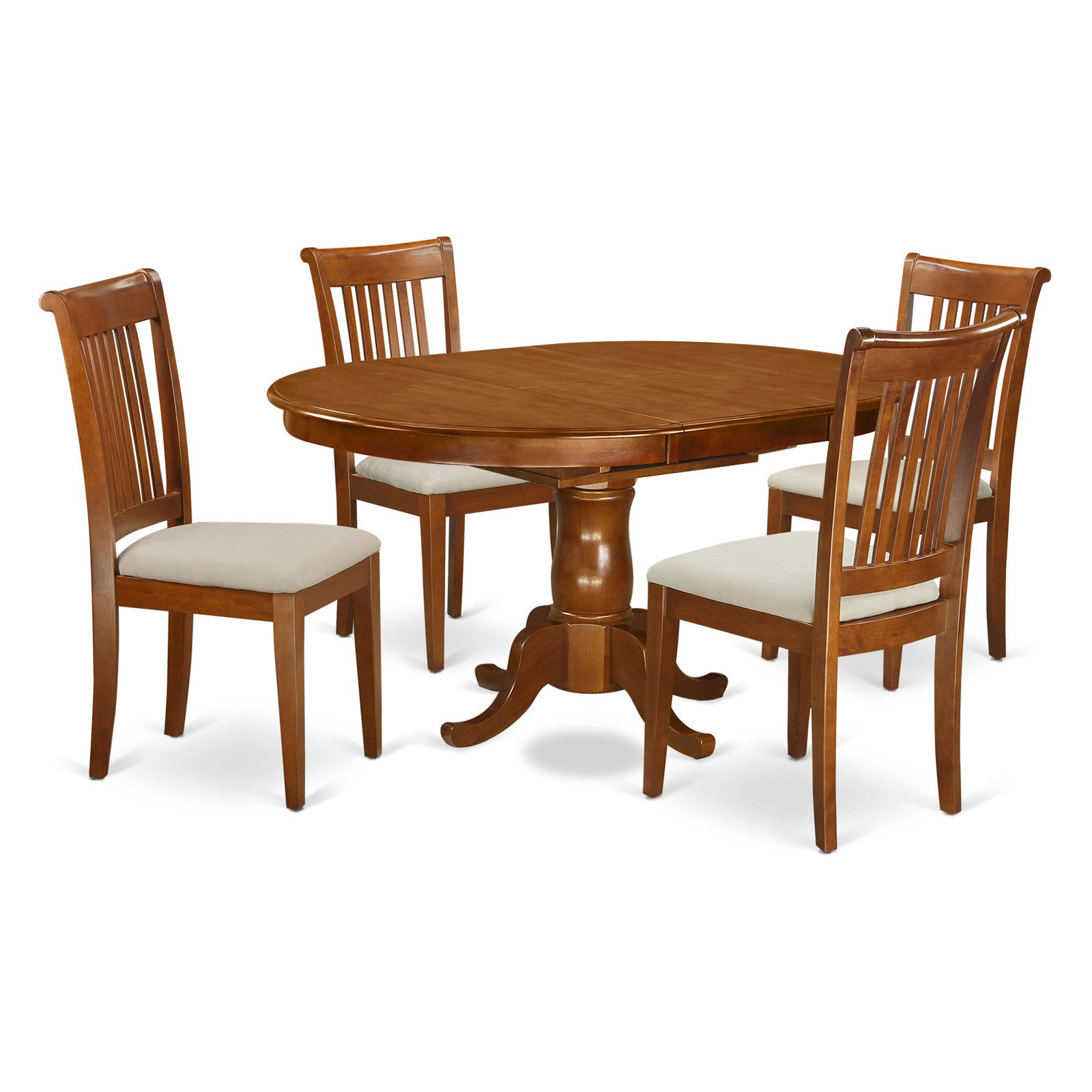 East West Furniture Portland 5 Piece Windsor Dining Table Set