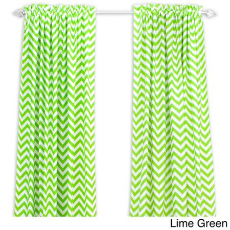 Chooty Co Zig Zag 96 Inch Rod Pocket Curtain Panel