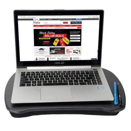 Moustache Ergonomic Design Lap Top Desk with Cushion, Laptop Lapdesk, Black - image 3 of 8