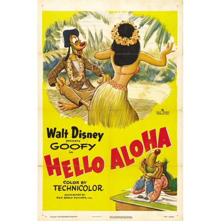 Aloha 40 Inches Home Decor - Hello Aloha Poster Movie 27 x 40 In - 69cm x 102cm