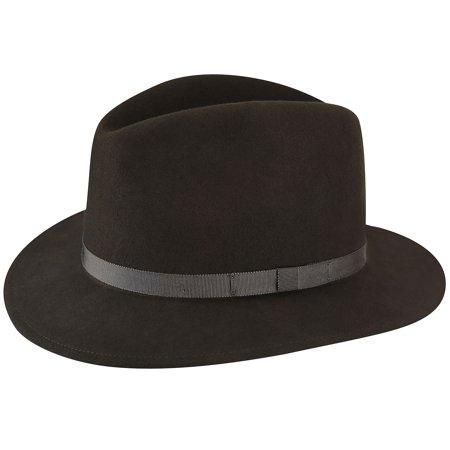 Country Gentleman Men Wilton Fedora Hat - Walmart.com 62a875fdc14