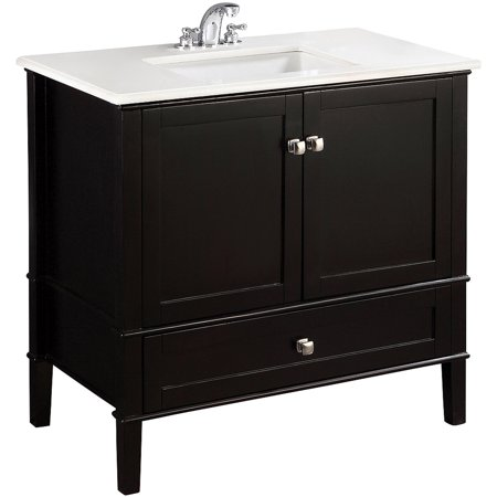 Brooklyn max chesapeake 36 black bath vanity for Bathroom vanities brooklyn mcdonald avenue