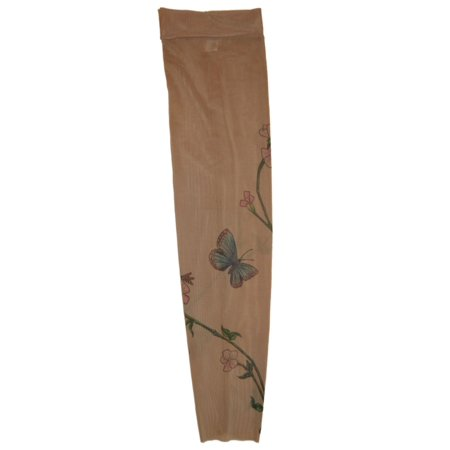 Wild Rose Unisex Single Tattoo Sleeve Arm Stocking Cover Blue Butterfly Tan
