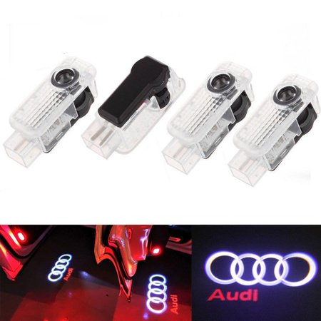 T-bar Step Light - LED Courtesy Door Light Welcome Step Logo Shadow Projector Rings Ghost for Audi
