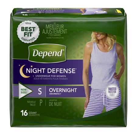 Adult Absorbent Underwear Depend Night Defense Pull On Small Disposable Heavy Absorbency - 16 -