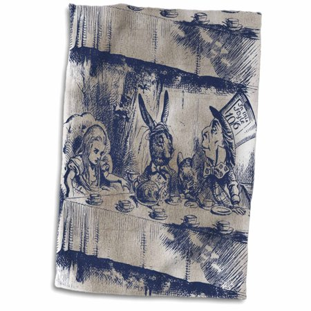 Mad Hatter Tea Party Outfits (3dRose Alice in Wonderland Tea Party with Mad Hatter - Towel, 15 by)