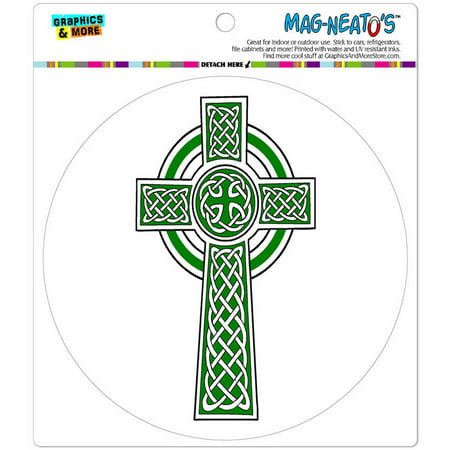 Celtic Christian Cross Irish Ireland Automotive Car Refrigerator Locker Vinyl Magnet ()