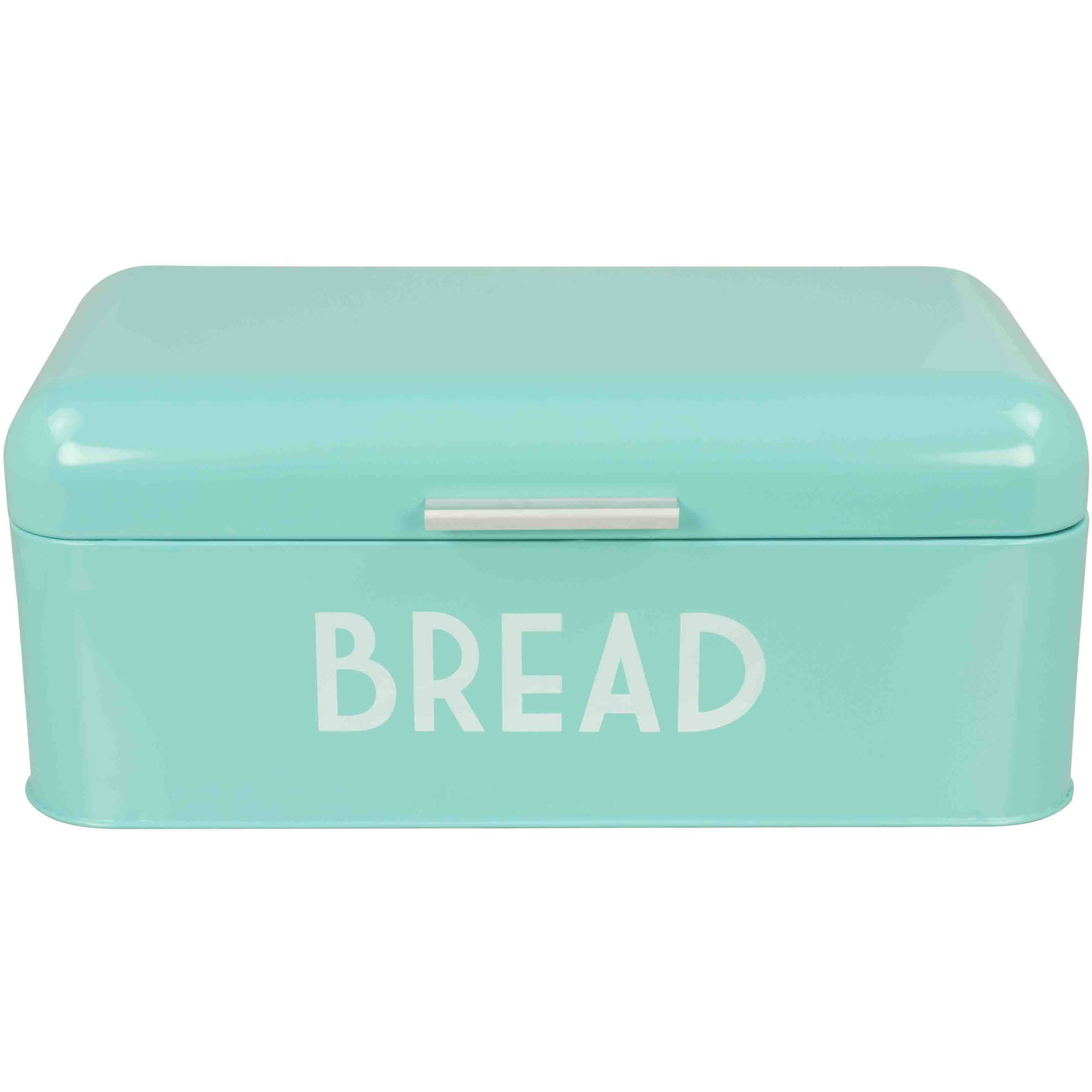 Tin bread box drawer insert - Home Basics Bread Box Turquoise