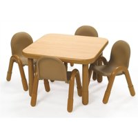 5 Pc BaseLine Square Table and Chairs Set