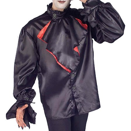 Goth Gothic Vampire Dracula Shirt Adult Mens Halloween Costume Accessory