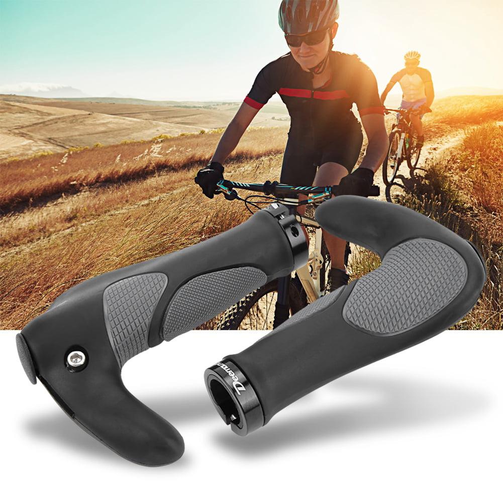 Ergonomic Bicycle Bike Cycling Anti-Skid Shockproof TPR Rubber Handlebar Grips