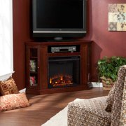 Ponoma Convertible Media Electric Fireplace-Cherry