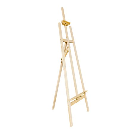Zimtown 5ft Portable Tripod Easel Stand, Height Adjustable, for Wedding Studio Hotel Exhibition Floor Display, for Artist Sketching Drawing - Adjustable Height Easel