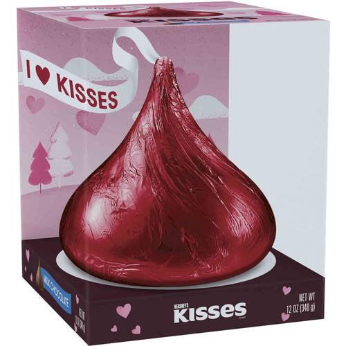 Hershey's Kisses Giant Valentine Milk Chocolate, 12 Oz.