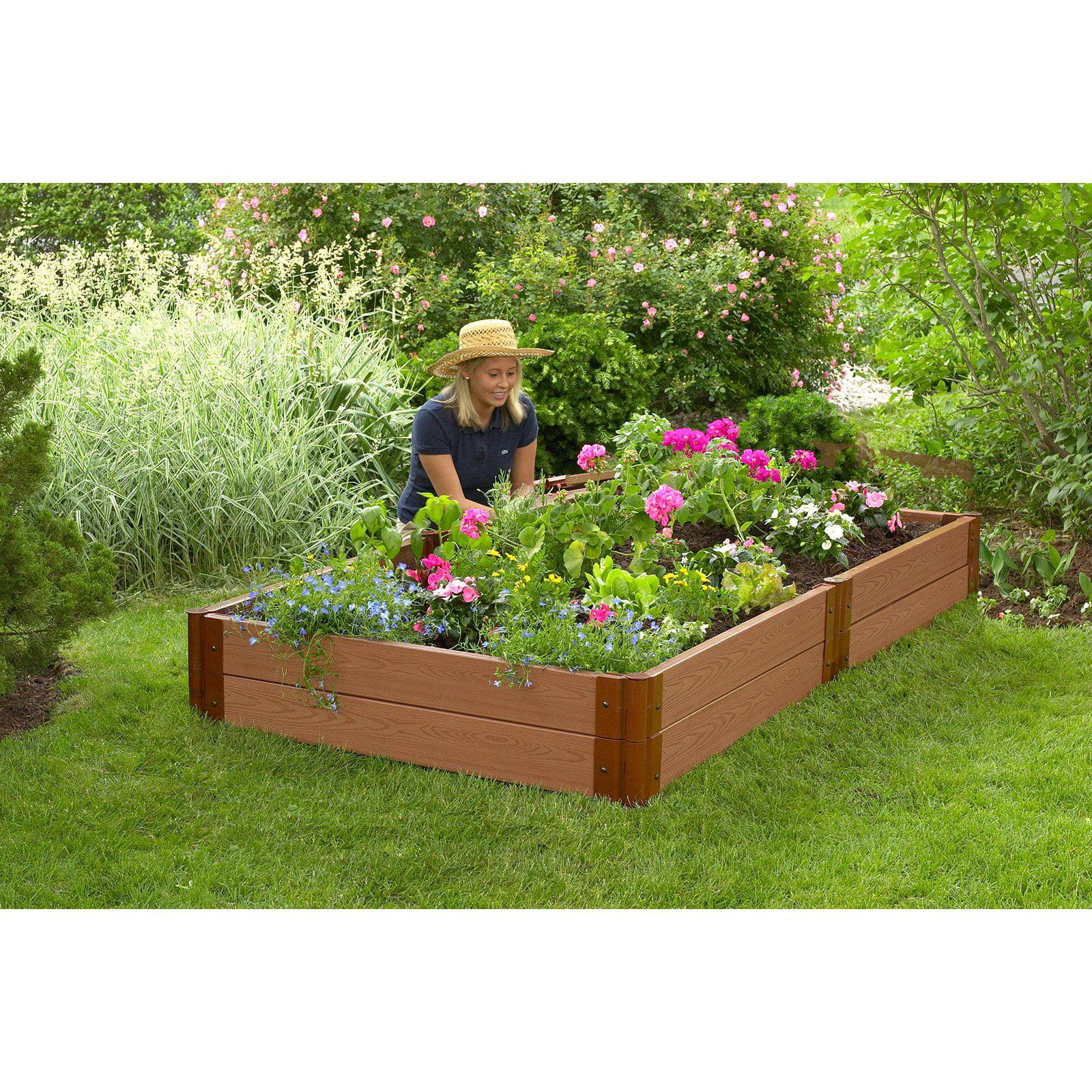 Classic Sienna Raised Garden Bed 4 x 8 x 11 2 profile