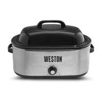 Weston 22 Quart Stainless Steel Roaster Oven
