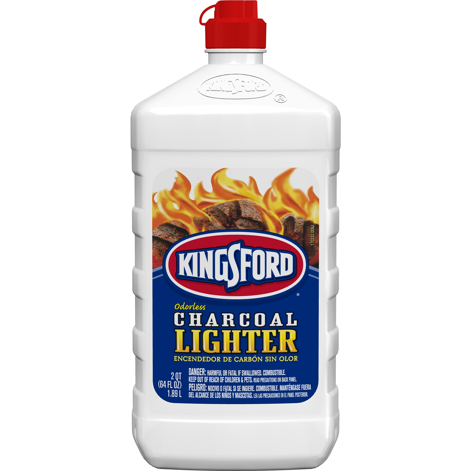 Kingsford Odorless Charcoal Lighter Fluid, 64 oz