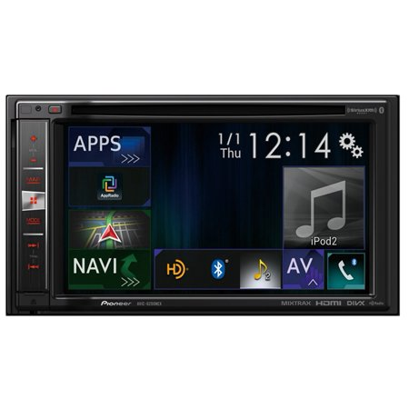 Pioneer AVIC-6200NEX Double-DIN In-Dash Navigation AV Car Stereo with 6.2_ WVGA Touchscreen Display with Apple... by