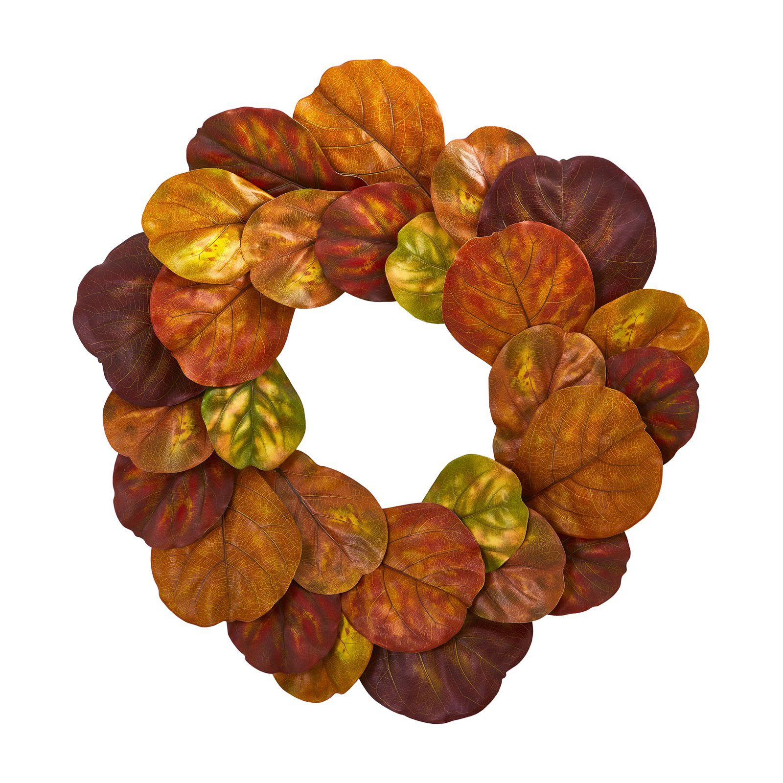 Nearly Natural 29 In. Fiddle Leaf Artificial Wreath