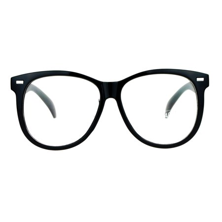 SA106 Classic Oversize Round Horn Rim Horned Clear Eye Glasses