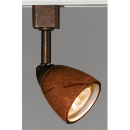 Cal LightingHT-954-BS-YELS Track Head, 120V, 50W, GU-10, Brushed Steel With Yellow Amber Spot - image 1 of 1