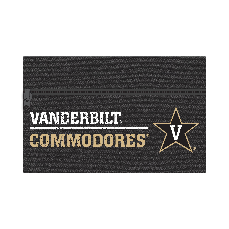"NCAA Vanderbilt University Commodores Zippered Cotton Canvas Pencil Pouch, 7.5"" by 4.625"""