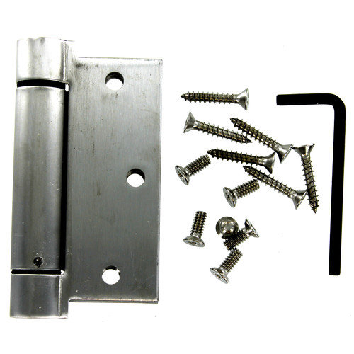"Stanley S849-646 3-1/2"" Stainless Steel Square Spring Hinge"