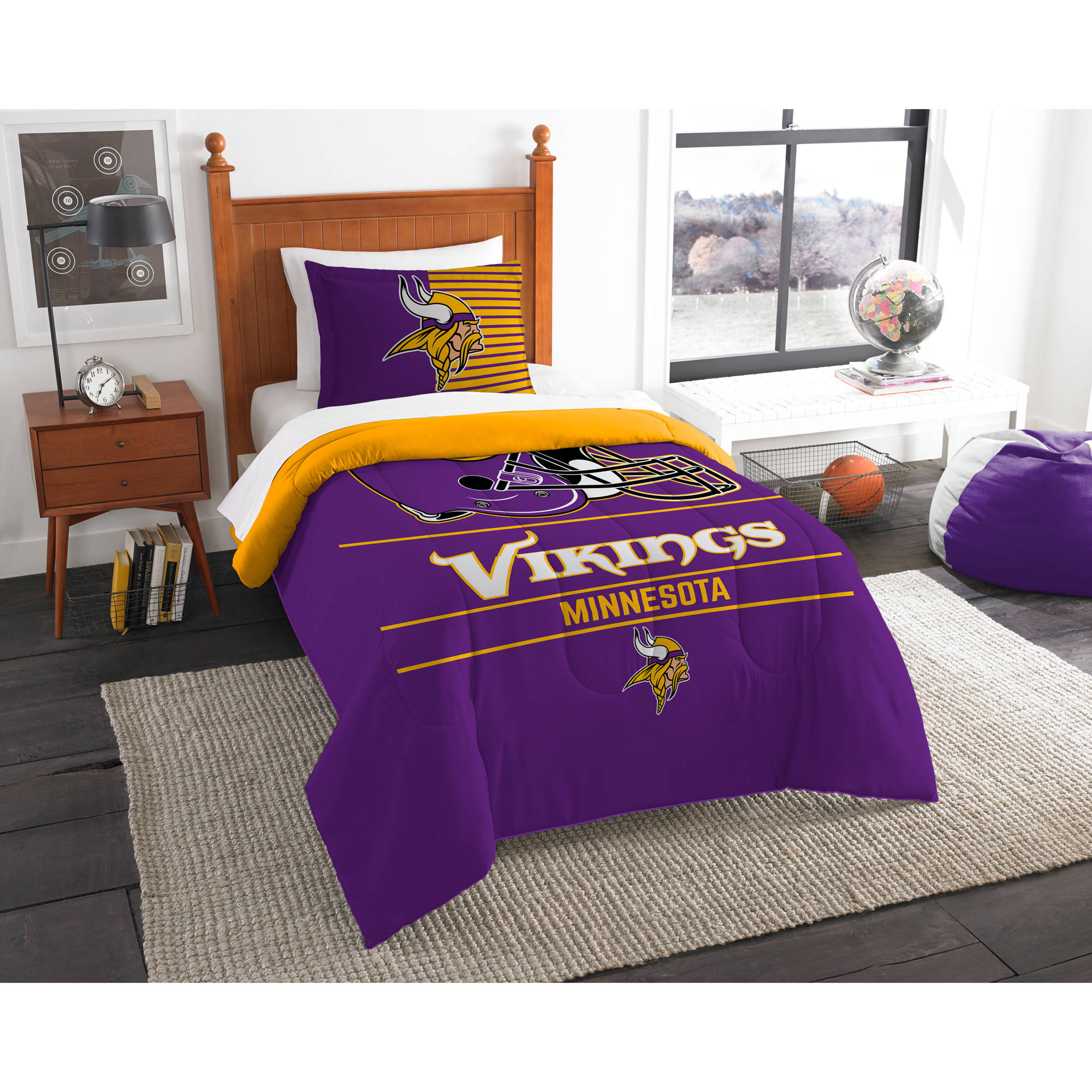"NFL Minnesota Vikings ""Draft"" Bedding Comforter Set"