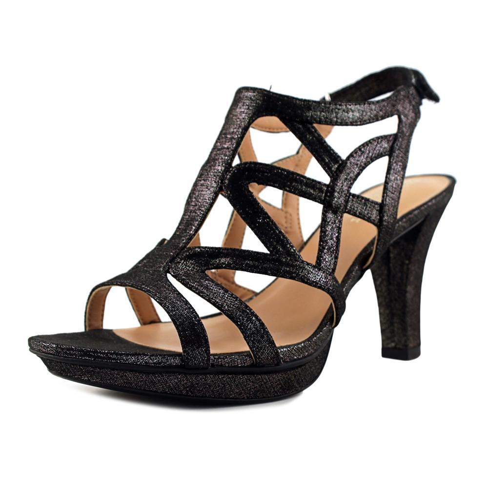 Naturalizer Danya Women Open Toe Synthetic Black Sandals by Naturalizer